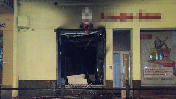 Во Львове подожгли отделение Альфа-банка