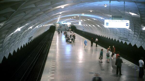 Центральный зал станции метро Спортивная в Харькове