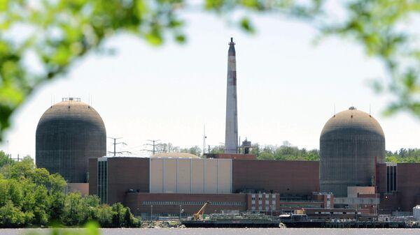 Атомная электростанция Indian Point в штате Нью-Йорк, США