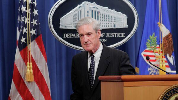 Роберт Мюллер во время выступления в Вашингтоне, США. 29 мая 2019
