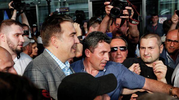 Михаил Саакашвили в международном аэропорту Борисполь в Киеве. 29 мая 2019