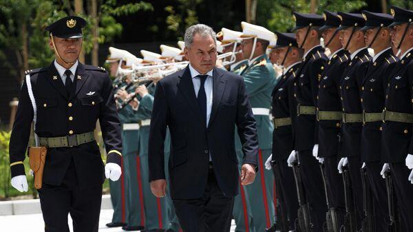 Министр обороны РФ Сергей Шойгу, прибывший с рабочим визитом в Японию. 30 мая 2019