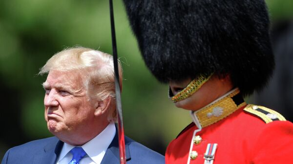Президент США Дональд Трамп в Букингемском дворце в Лондоне. 3 июня 2019
