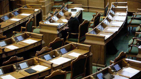 Зал заседаний датского парламента (Фолькетинга)