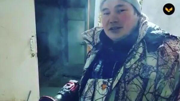 Скриншот видео о сварщике из села Гыда Игорь Няч