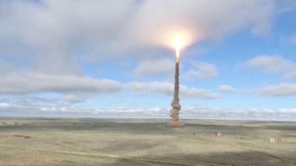 Кадры запуска новой ракеты системы ПРО