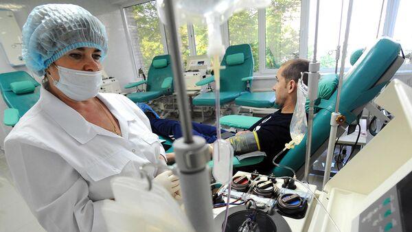 Работа областной станции переливания крови