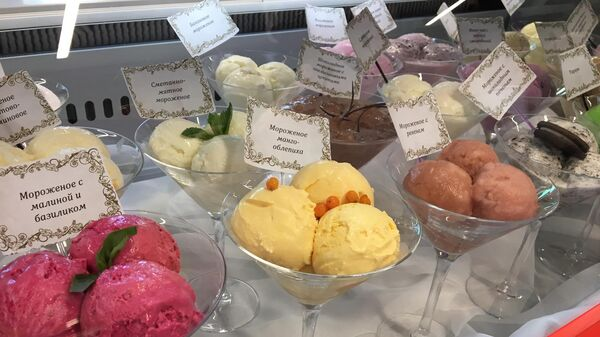 На выставке представлено более 50 видов мороженого