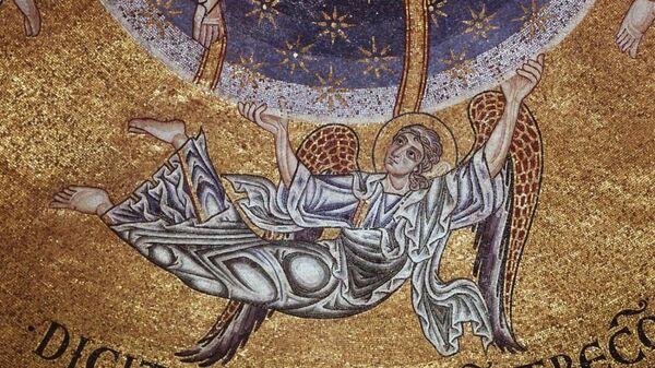 Вознесение Господне. Фрагмент. Мозаика. XII в. Собор Святого Марка. Венеция, Италия