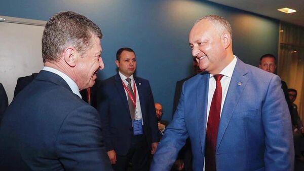 Дмитрий Козак и Игорь Додон на Петербургском международном экономическом форуме-2019