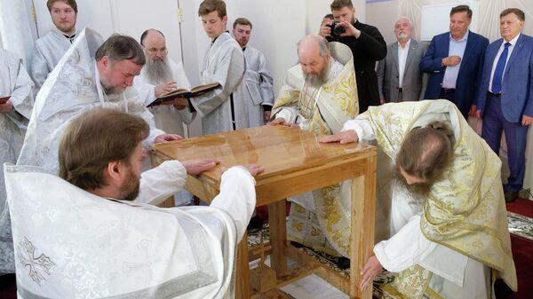 омовение престола, освящение храма Ксении Блаженной в Петербурге