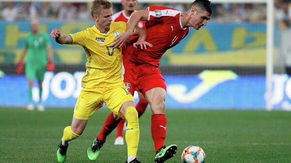 Эпизод матча Украина - Сербия