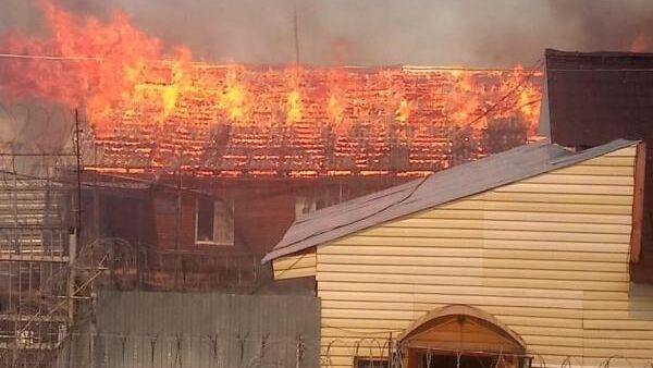 Пожар на территории исправительной колонии п.Гари в Свердловской области. 8 июня 2019