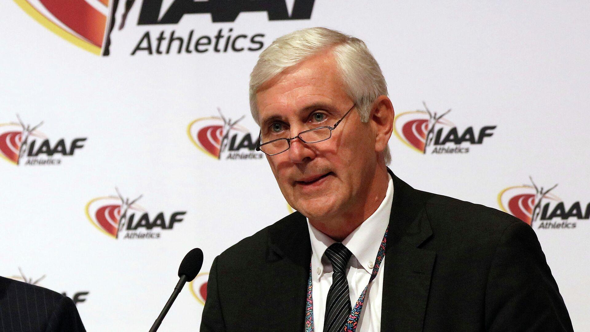 Глава инспекционной комиссии IAAF по контролю за действиями Всероссийской федерации легкой атлетики Руне Андерсен - РИА Новости, 1920, 02.12.2020