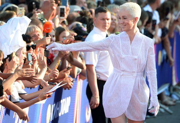 Актриса Дарья Мороз на Звездной дорожке перед началом церемонии открытия XXX Открытого Российского кинофестиваля Кинотавр в Сочи