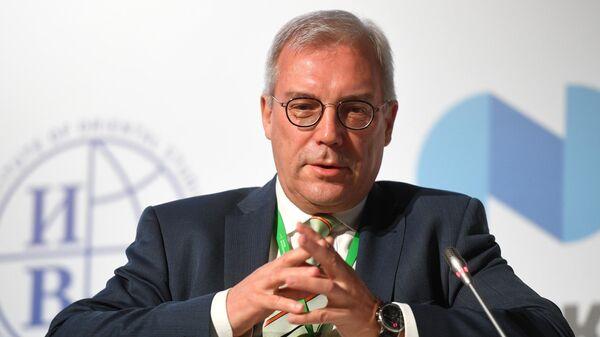Заместитель министра иностранных дел РФ Александр Грушко во время международного форума Примаковские чтения.  11 июня 2019