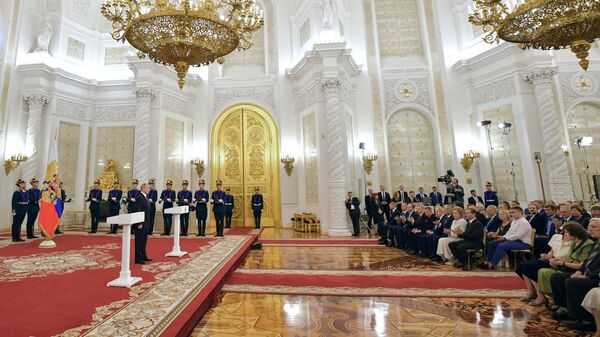 Владимир Путин на церемонии вручения Государственных премий в День России. 12 июня 2019