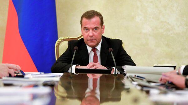 LIVE: Медведев на заседании Правительства РФ