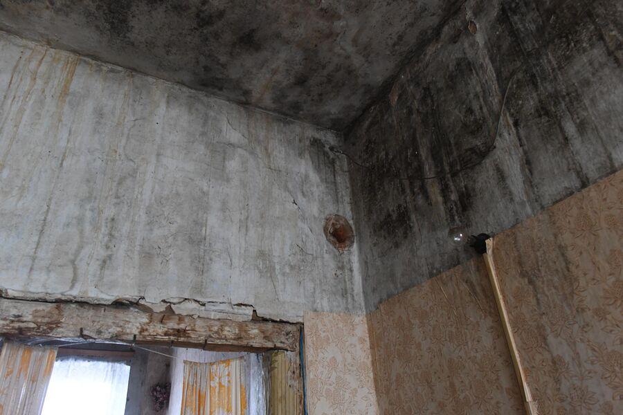 Потолок в комнате ветерана