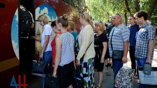 Жители ДНР выехали в Ростовскую область для получения паспортов граждан РФ