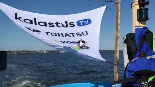 Вилле Хаапасало отправился на плоту с бассейном через Финский залив