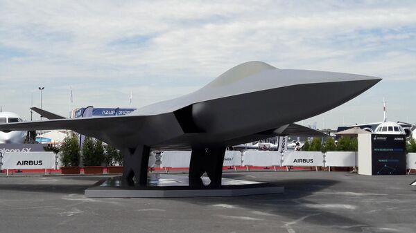 Новейший европейский истребитель 5-го поколения NGF (Next Generation Fighter) на международном аэрокосмическом салоне Paris Air Show 2019 во Франции