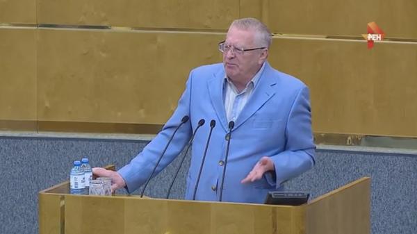Предатели! Опубликовано видео ухода Жириновского с заседания Госдумы