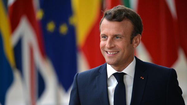 Президент Франции Эммануэль Макрон на саммите ЕС в Брюсселе. 20 июня 2019