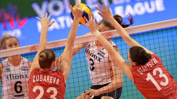 Волейбол. Женщины. Этап Лиги наций. Матч Россия - Нидерланды