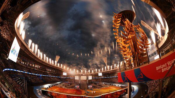 Салют на церемонии открытия II Европейских игр в Минске