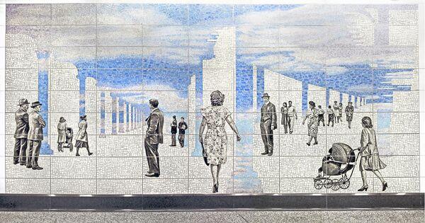 Мозаика из мусора Жан Шин
