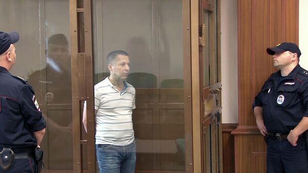 Задержанный гражданин Польши Мариан Радзаевски во время вынесения приговора в мосгорсуде. 25 июня 2019