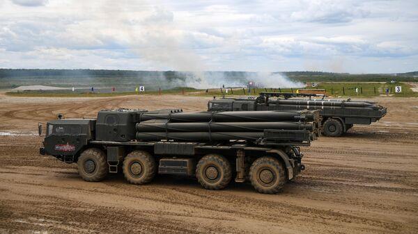 Реактивная система залпового огня Смерч на Международном военно-техническом форуме Армия-2019