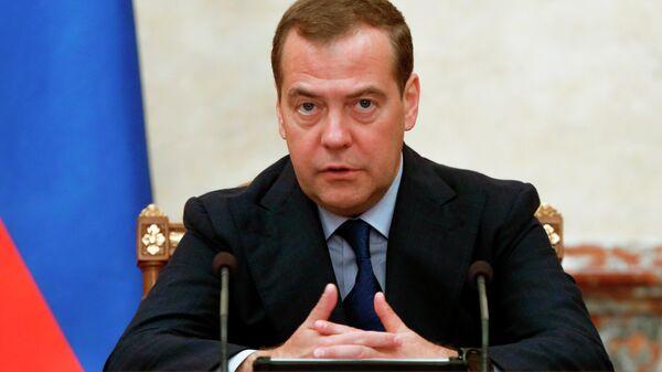 Председатель правительства РФ Дмитрий Медведев проводит заседание правительства. 27 июня 2019