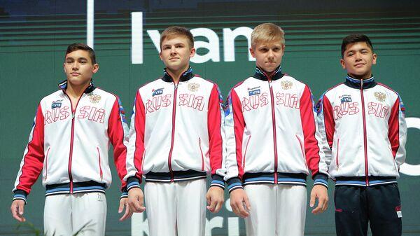 Участники юниорского чемпионата мира по спортивной гимнастике