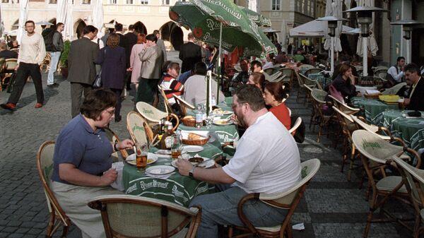 Кафе на Староместской площади в Праге