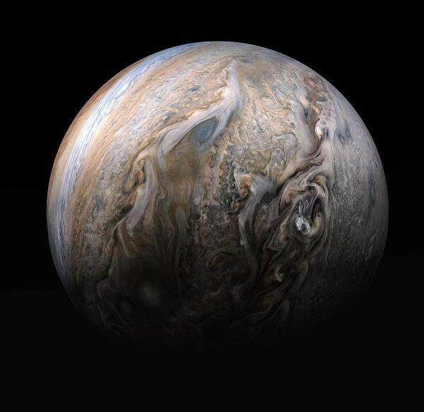 Северное полушарие Юпитера