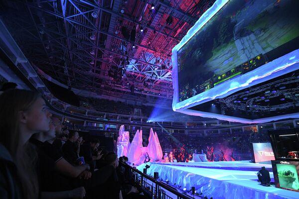 Церемония открытия киберспортивного турнира Epicenter Major по Dota 2 в Москве. Победитель турнира заработает $350 тысяч.