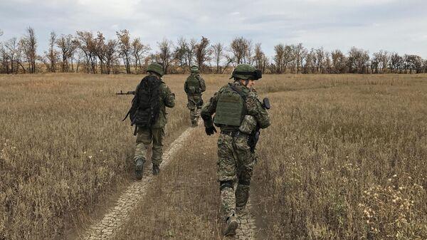 Военнослужащие полка спецназначения армии ДНР
