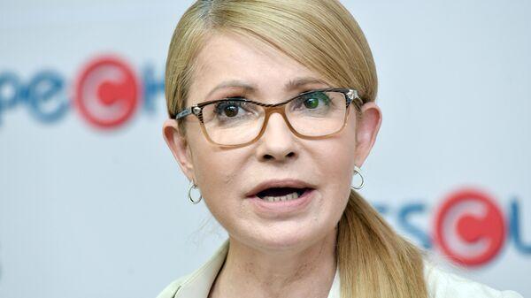 Лидер политической партии Батькивщина Юлия Тимошенко