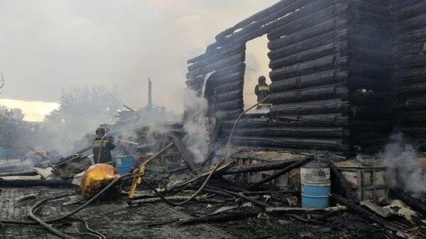 Последствия пожара в Свято-Казанском Чимеевском мужском монастыре. 3 июля 2019
