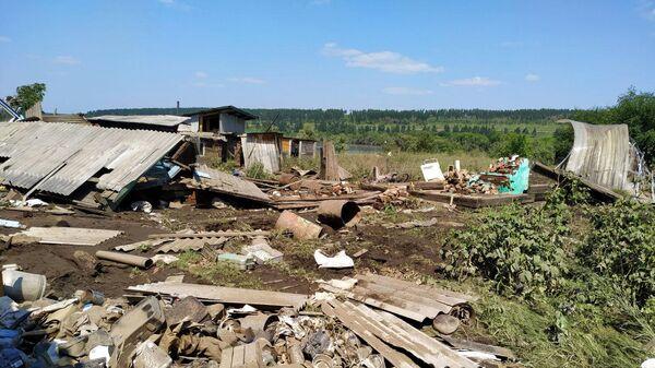 Последствия паводка в Тулунском районе Иркутской области. 4 июля 2019