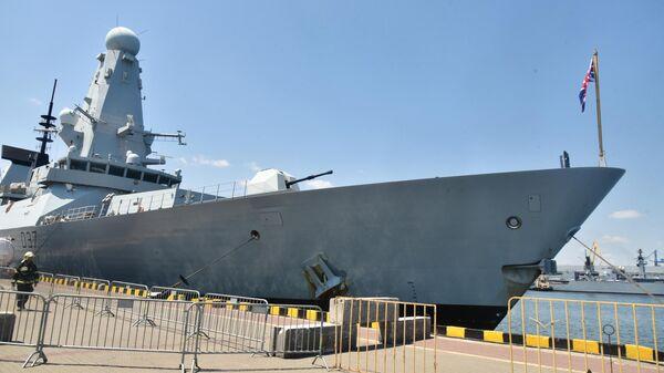 Эсминец Дункан прибыл в морской порт Одессы для участия в международных учениях Си Бриз - 2019