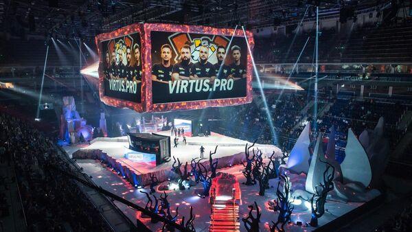 Представление команды Virtus.pro на киберспортивном турнире  EPICENTER Major в Москве