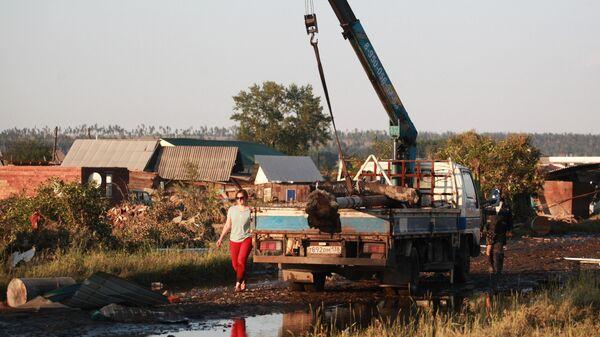 Устранение последствий подтопления в городе Тулун в Иркутской области
