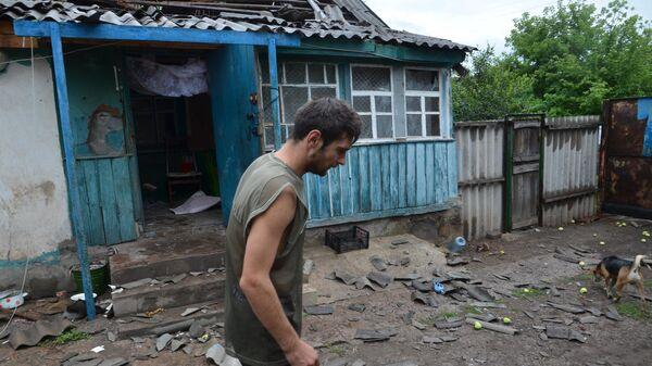 Последствия обстрела со стороны ВС Украины поселка Голубовское в ЛНР. 6 июля 2019