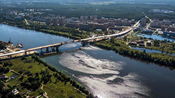 Вид на город Дубна. Московская область