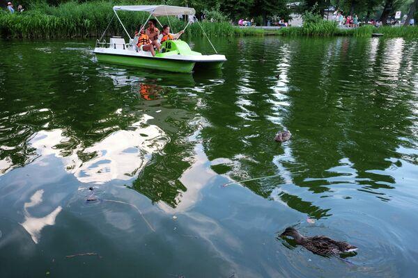 Озеро в Парке Горького в Москве