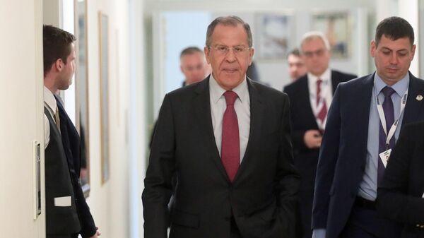 Министр иностранных дел РФ Сергей Лавров на неформальной встрече глав МИД стран-участниц ОБСЕ