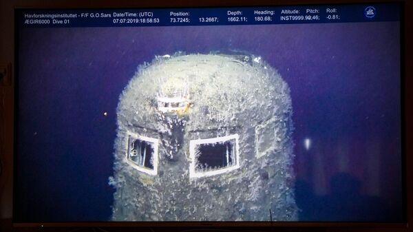 Атомная подводная лодка Комсомолец спустя 30 лет после того, как она затонула в Норвежском море
